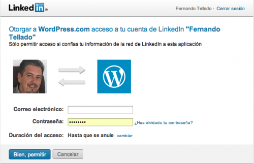 jetpack wordpress linkedin