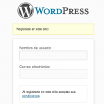 Aade texto a la pantalla de registro de WordPress