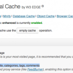 feeds w3 totalcache