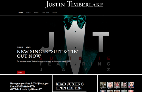 justin timberlake web wordpress