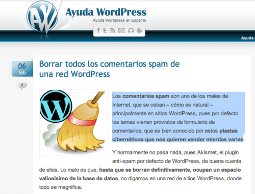 cambiar color texto seleccionado wordpress