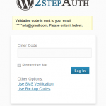 codigo 2 pasos email wordpress