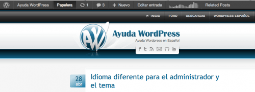 enlace papelera barra admin wordpress