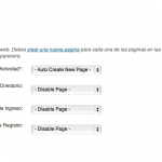 Crear páginas Mingle